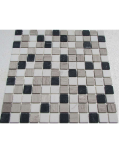 Mix Black Grey 23-4T каменная мозаика