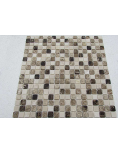 Mix Emperador 15-4P каменная мозаика