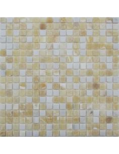 White Golden Onyx 15-4T мозаика из оникса