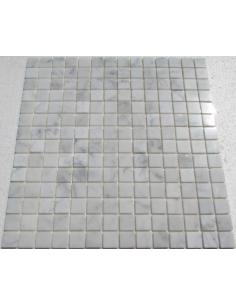 Bianco Carrara 20-4P каменная мозаика