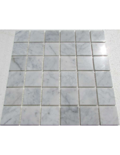 Bianco Carrara 48-6P каменная мозаика