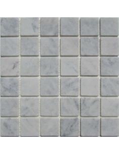 Bianco Carrara 48-6T каменная мозаика