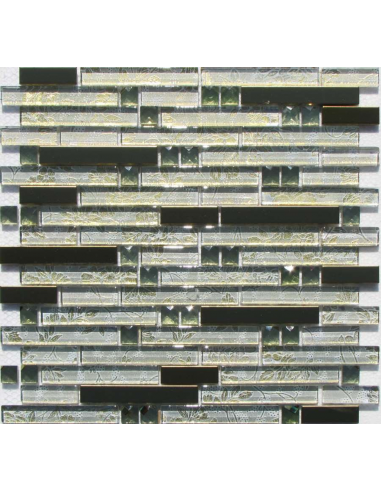 H5423 мозаика из стекла и металла