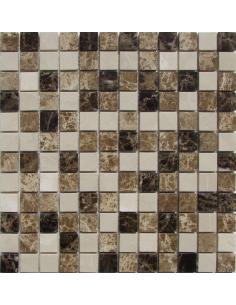 Mix Emperador 23-6P каменная мозаика