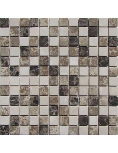 Mix Emperador 23-6T каменная мозаика