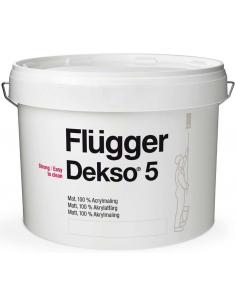Flugger Dekso 5 base 4 9,1л 100% - акриловая матовая краска