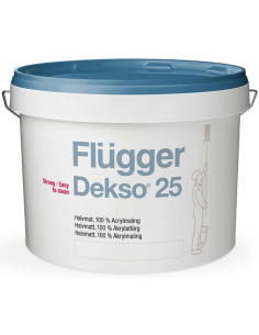 Flugger Dekso 25 base 1 9,1л 100% - акриловая полуматовая краска
