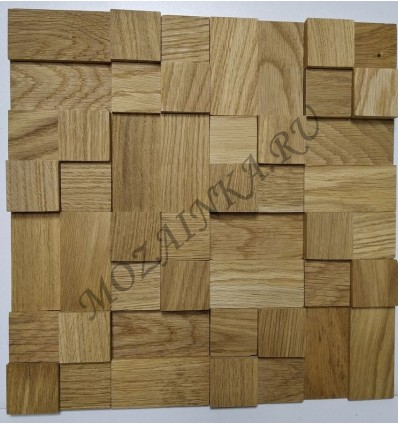 Кантри Дуб деревянная 3Д мозаика, без покрытия маслом