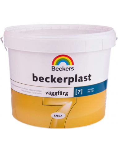 Beckers Beckerplast 7 base A матовая краска для стен и потолка 2,7л