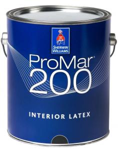 ProMar 200 Interior Latex Flat краска для стен и потолка 18,927л