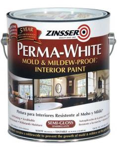 ZINSSER Perma-white Interior полуглянцевая краска 3,785л