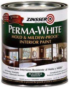 ZINSSER Perma-white Interior глубокоматовая краска 3,785л