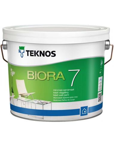 Teknos Biora 7 РМ1 матовая краска для стен 2,7л