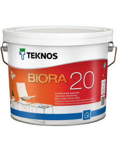 Teknos Biora 20 РМ1 полуматовая краска для стен и потолка 9л