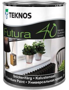 Teknos Futura 40 РМ1 универсальная уретано-алкидная краска 0,9л