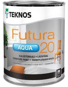 Teknos Futura Aqua 20 РМ1 универсальная полуматовая уретано-алкидная краска 0,9л