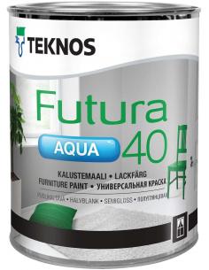 Teknos Futura Aqua 40 РМ1 универсальная полуглянцевая уретано-алкидная краска 0,9л