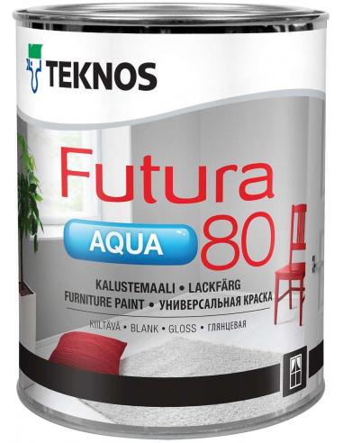 Teknos Futura Aqua 80 РМ1 универсальная глянцевая уретано-алкидная краска 0,9л