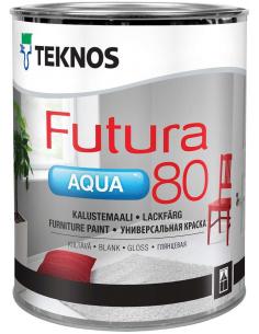 Teknos Futura Aqua 80 РМ1 универсальная глянцевая уретано-алкидная краска 2,7л