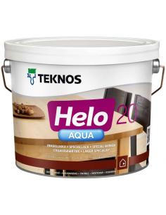 Teknos Helo Aqua 20 полуматовый полиуретановый лак для дерева 0,45л