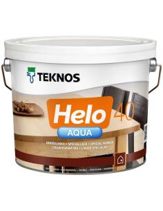 Teknos Helo Aqua 40 полуглянцевый полиуретановый лак для дерева 0,45л