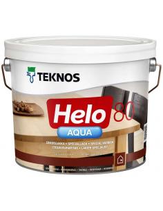 Teknos Helo Aqua 80 глянцевый полиуретановый лак для дерева 0,45л