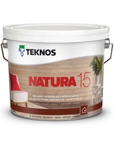 Teknos Natura 15 полуматовый акриловый лак для дерева 0,9л