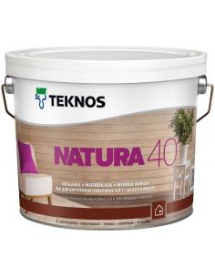 Teknos Natura 40 полуглянцевый акриловый лак для дерева 0,9л