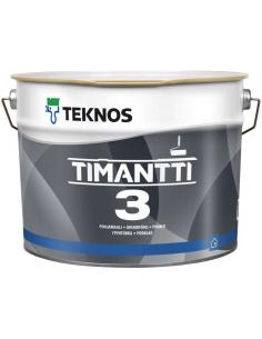 Teknos Timantti 3 матовая краска-грунт для стен и потолка 2,7л