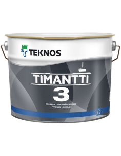 Teknos Timantti 3 матовая краска-грунт для стен и потолка 9л