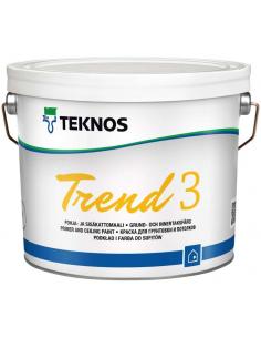 Teknos Trend 3 матовая краска-грунт для стен и потолка 9л