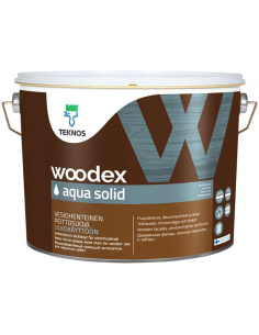 Teknos Woodex Aqua Solid кроющий антисептик для дерева 18л