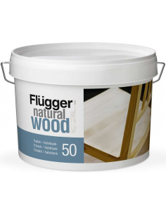 Flugger Natural Wood Lacquer 50 3л полуглянцевый мебельный лак для дерева