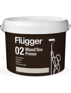 Flugger 02 Wood Tex Priming Paint (Grundmaling) 3л пигментированный алкидный грунт для дерева