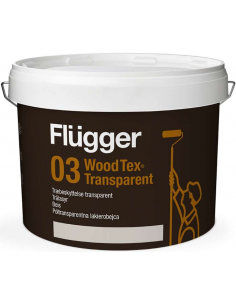 Flugger 03 Wood Tex Transparent 9,1л лессирующая пропитка для дерева