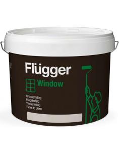 Flugger Wood Tex Window Paint 0,75л полуглянцевая краска для окон и дверей