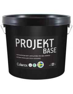 Colorex Projekt Base совершенно матовая грунт-краска для стен и потолка 9л