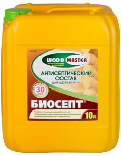 WOODMASTER Биосепт пропиточный антисептик для дерева 10л