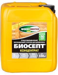 WOODMASTER-PROF Биосепт-концентрат пропиточный антисептик для дерева 5кг