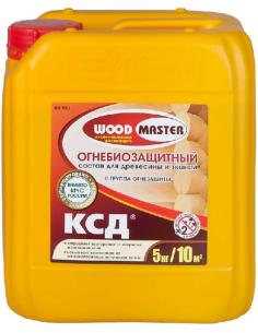 WOODMASTER КСД огнебиозащитный состав для древесины и тканей 5кг