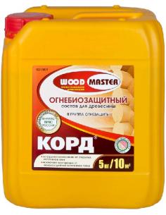 WOODMASTER КОРД огнебиозащитный состав для древесины 5кг
