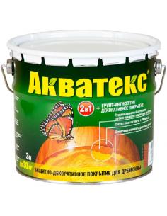 Акватекс 2в1 грунт-антисептик и декоративное покрытие для дерева 3л