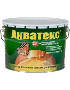 Акватекс 2в1 грунт-антисептик и декоративное покрытие для дерева 9л