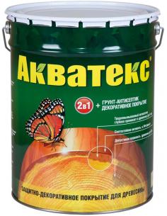 Акватекс 2в1 грунт-антисептик и декоративное покрытие для дерева 18л