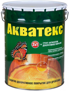 Акватекс 2в1 грунт-антисептик и декоративное покрытие для дерева 20л