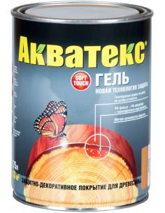 Акватекс Гель защитно-декоративное тиксотропное покрытие для дерева 0,75л