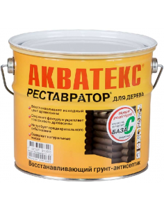 Акватекс Реставратор восстанавливающий кроющий грунт-антисептик для дерева 2,7л