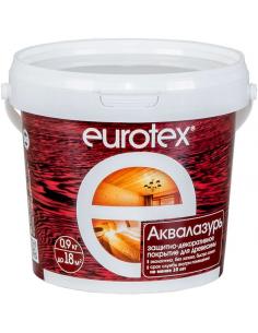 EUROTEX Аквалазурь защитно-декоративное покрытие для дерева 0,9кг