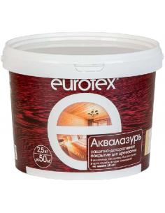EUROTEX Аквалазурь защитно-декоративное покрытие для дерева 2,5кг