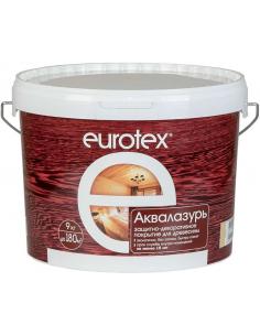 EUROTEX Аквалазурь защитно-декоративное покрытие для дерева 9кг
